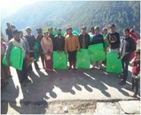 Jakholi Vermi beds Distribution, Rudraprayag